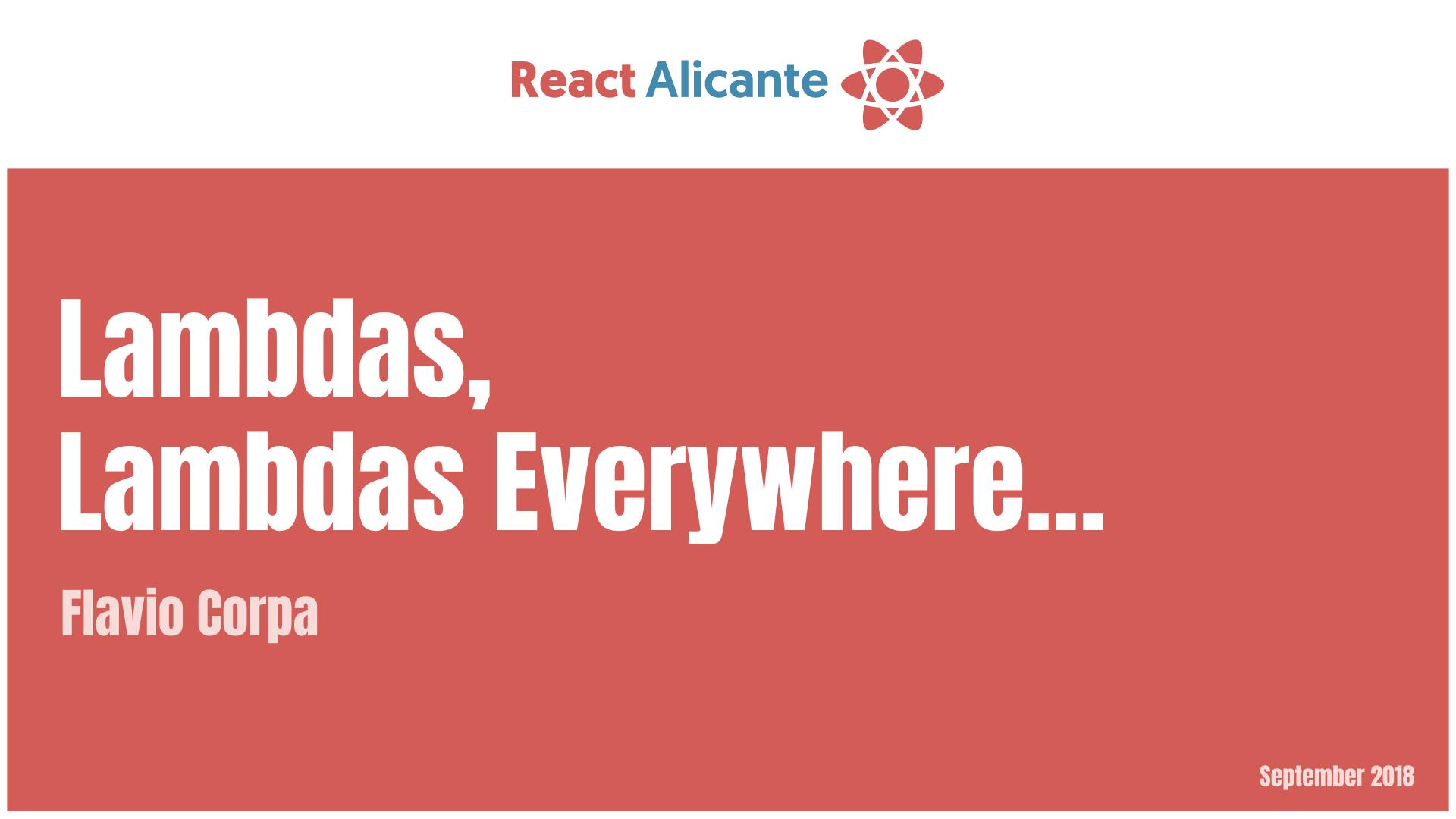 React Alicante 2018 - Talks, slides & videos
